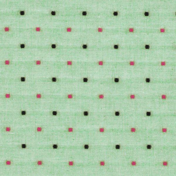 Grüner Stoff mit Tupfen