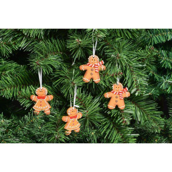 Lebkuchenmännchen als Weihnachtsanhänger