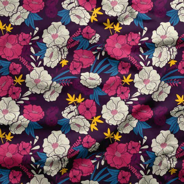 Wasserdichter Polyester 'Gartenblumen'