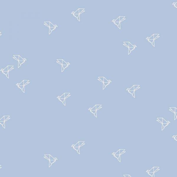 Baumwollbatist mit Origamivögeln