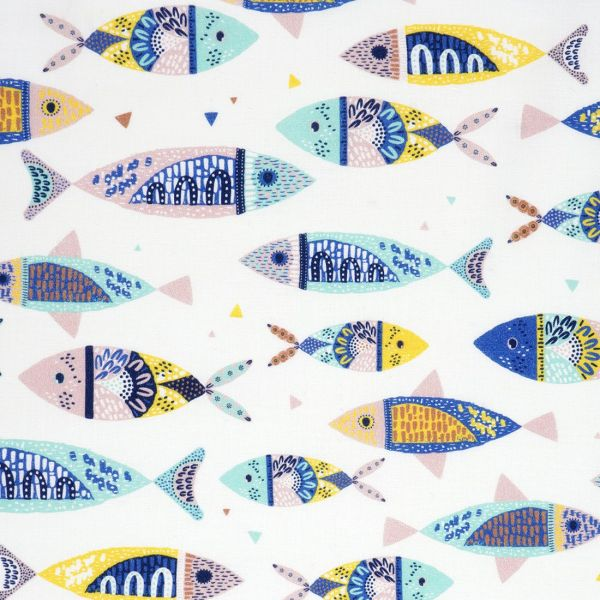 Kinderstoff mit Fischen