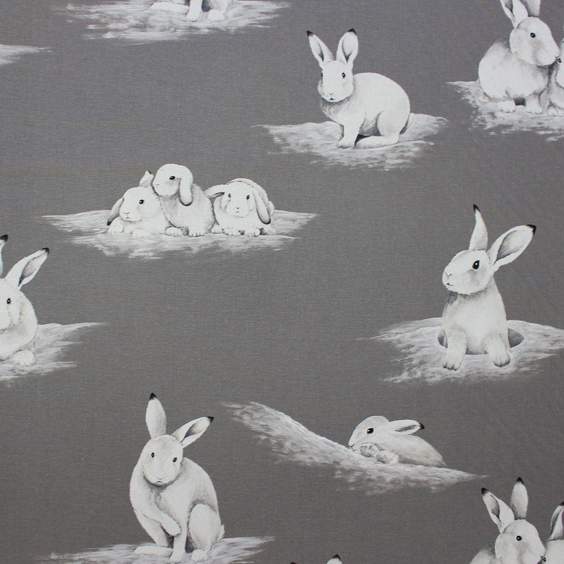 Baumwollstoff mit Kaninchen