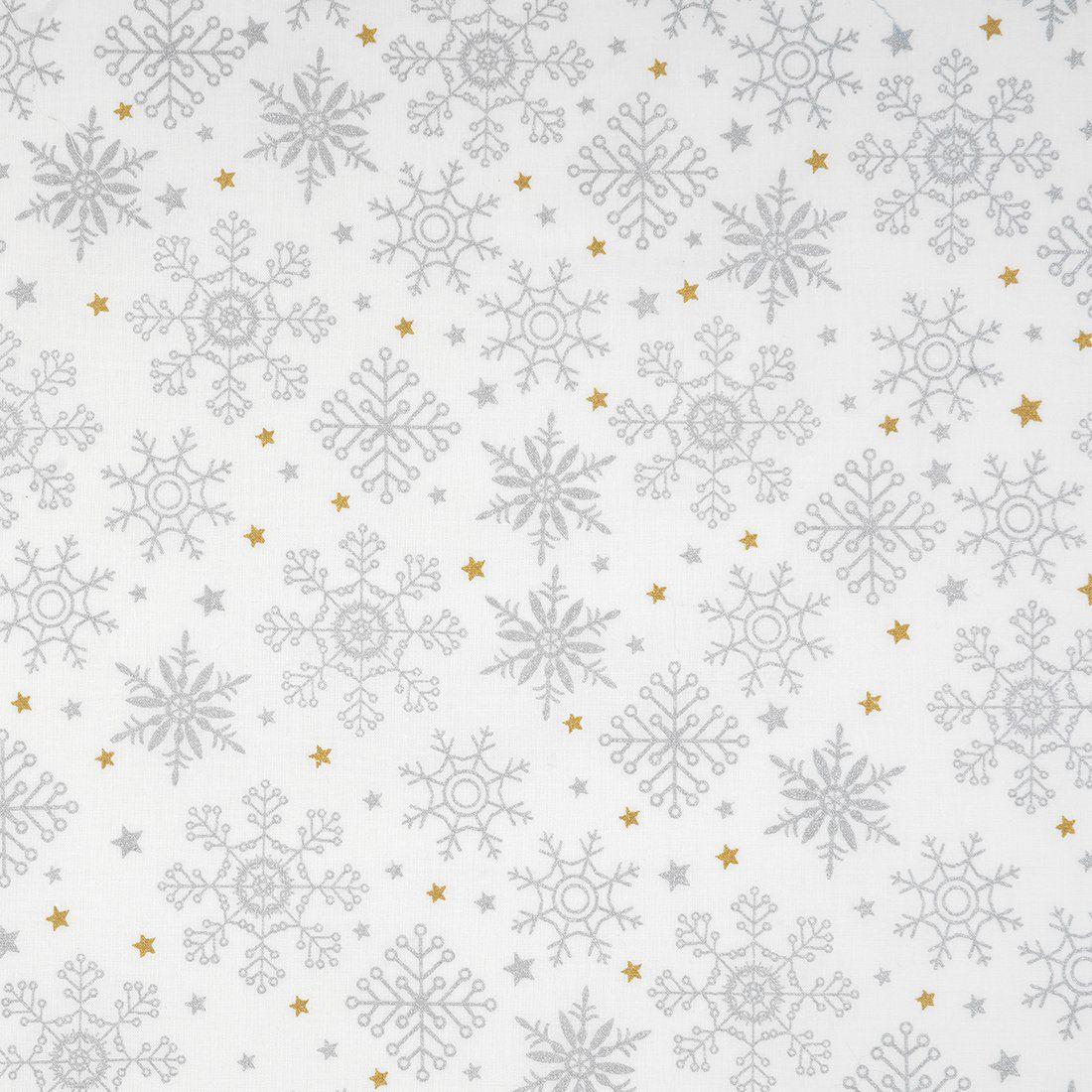Weihnachts- oder Winterstoff mit Schneeflocken