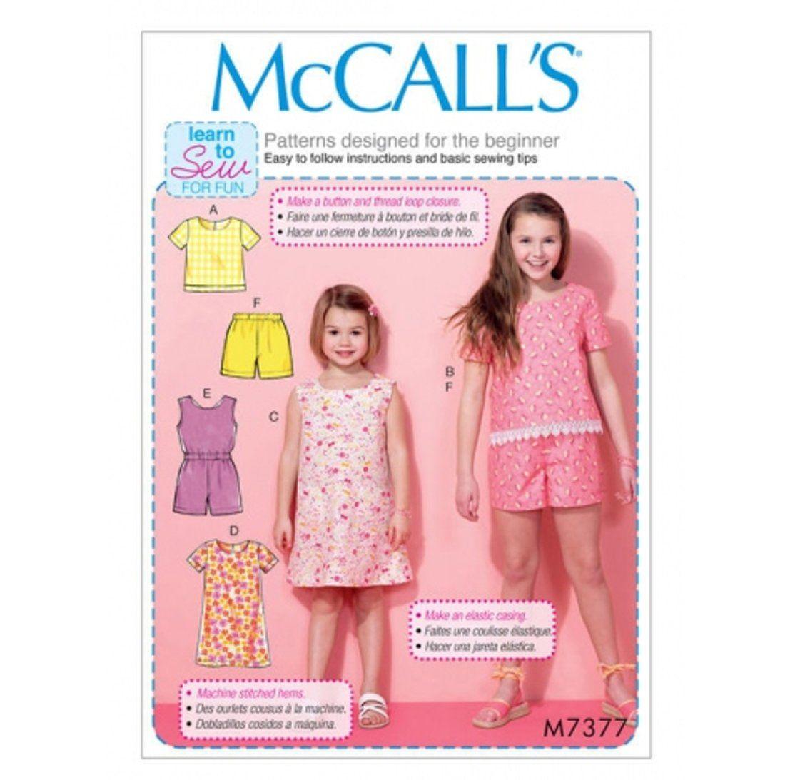 McCALL'S Schnittbogen für Mädchen