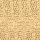 Baumwollstoff gelb, geometrischer Aufdruck Saki