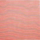 Leinenstoff Streifen rot