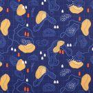 Beschichteter Baumwollstoff Karte Blau