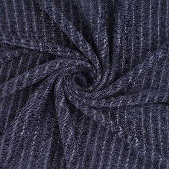 Samtstoff gestreift Marineblau