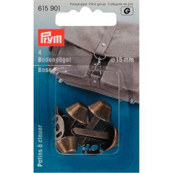 Bodennägel für Taschen 15mm, altmessing