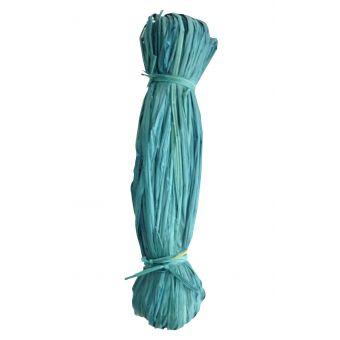Knäuel aus pflanzlichem Raffiabast 50gr blau