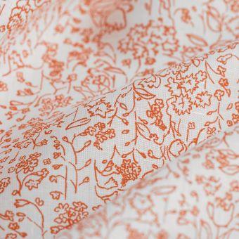 Leinenstoff Hemd Laub Terrakotta