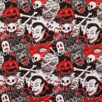 Popeline Baumwolle Vampires Rot
