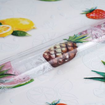 Transparente Tischdecke Cristal Früchte
