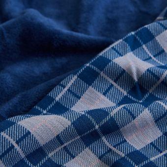 Polarstoff Alpfleece Karos blau