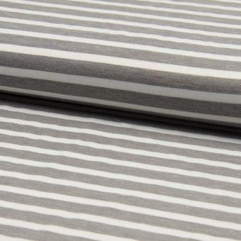 Twill Viskose Streifen Schwarz