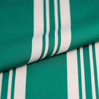 Outdoorstoff  Polyskin Streifen Weiß/Grün