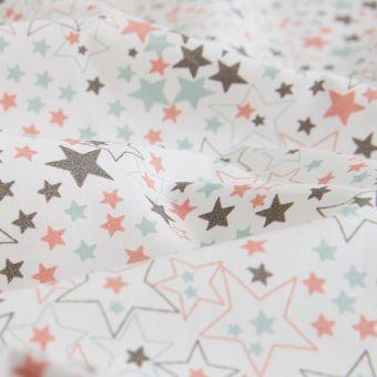 Perkal Bio Baumwolle Sterne