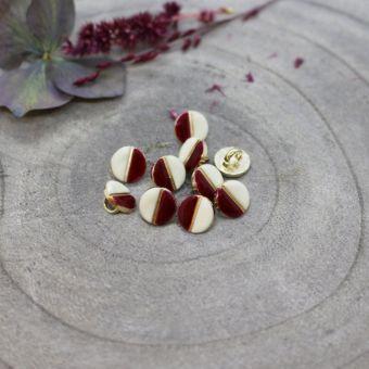 Knopf Wink off white Amarant 9 mm - Atelier Brunette