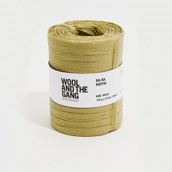 Häkelgarn Ra Ra Raffia dune green - Wool and the Gang