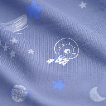 Sweatshirtstoff Galaxie Blau