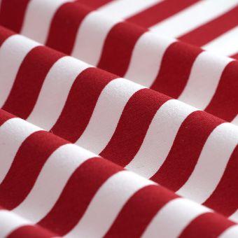 Ottoman-Stoff diagonale Streifen Rot