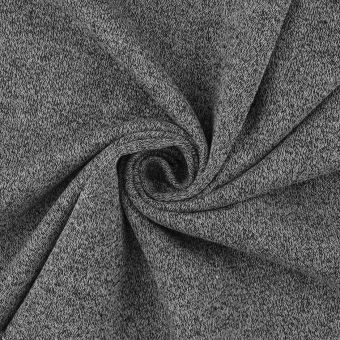 French Terry Baumwolle Polyester grau merliert