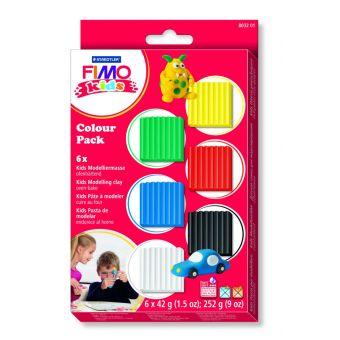 Fimo Kinderset 6 Grundfarben