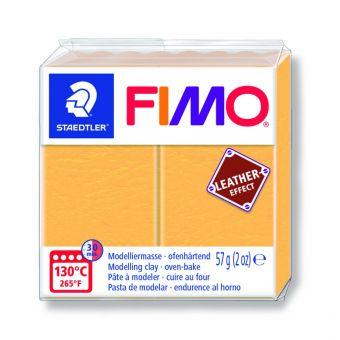 Fimo-Leder-Effekt-Paste 57g safrangelb