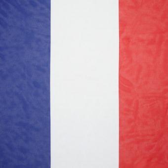 Dreifarbiger Stoff: blau, weiß und rot