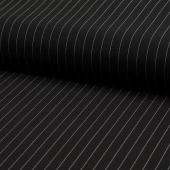 Gabardine Polyester Stretch Streifen schwarz