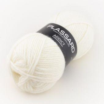 Wolle Plassard Addict Weiß