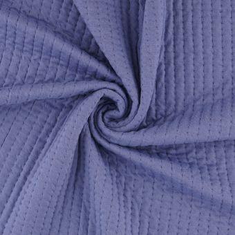 Piqué-Sweatshirtstoff blau