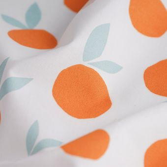 Perkal-Baumwollstoff Orange