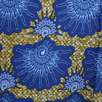 Wax Stoff mit blauen Muscheln - Karabashop