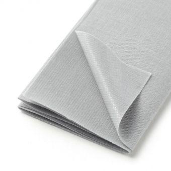 Thermoklebender Streifen aus Baumwolle, grau