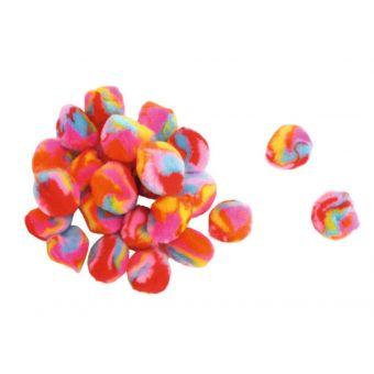 Mehrfarbige Quasten 0,9 bis 1,5 cm 45 Stück