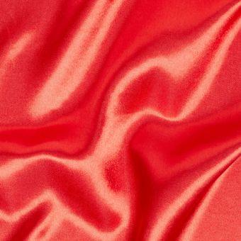 Einfarbiger Satinstoff rot