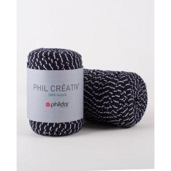 Strickgarn Phildar Creativ streifen blau