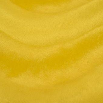 Einfarbiger gelber Velboa-Stoff