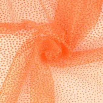 Tüll  Glänzende Mini-Punkte Karneval orange