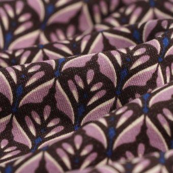 Sweatshirtstoff Baumwolle Geomuster parma