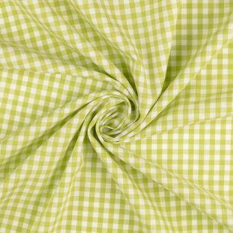 Baumwollstoff Vichy Karos grün