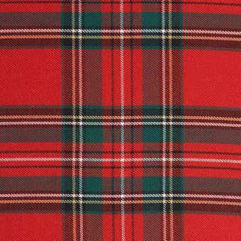 Stoff Clan mit Karomuster, rot