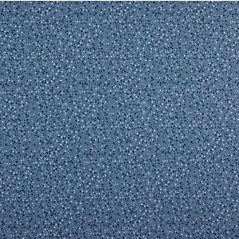 Popeline Baumwolle Dots blau