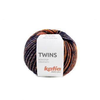 Strickgarn Katia Twins Bordeaux Orange Blau