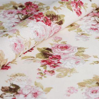 Ottoman-Stoff recycelte Baumwolle Blumen