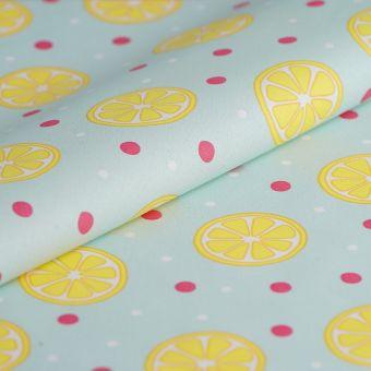 Cretonne beschichtet Zitronen