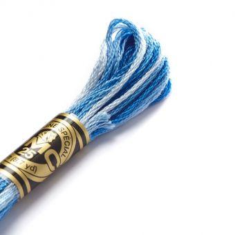 Mouliné-Faden Blau