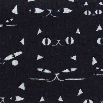 Popeline Baumwolle Dashwood Studio - Katzenaugen schwarz