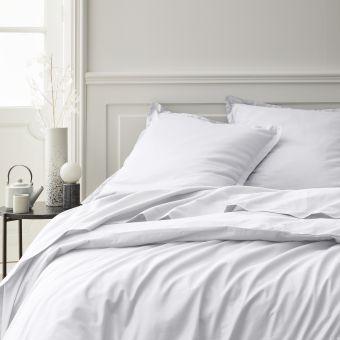 Bettbezug Baumwollperkal Weiß 240 x 220 cm